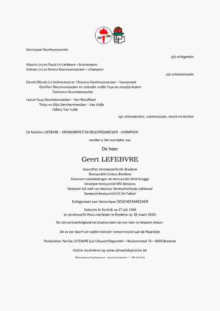 Brief Geert